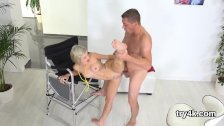 Elegant sweetie blows dick in pov and gets so