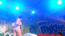 Sara May erotic public show