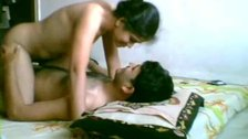 Hot couple having sex in bedroom