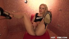 Tiny blonde teen Jakelin squirts in the showe
