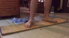 Wusky feet stuck in glue