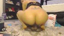 Sexy Busty Big Ass Latina Rides Fake Cock