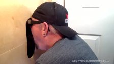 Gloryhole Throat Fucked By Curious Black