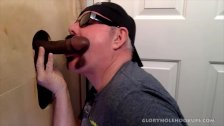 Hung Married Black Guy Gloryhole Fucks My