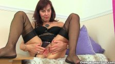 Over 60 granny Georgie Nylons from the UK