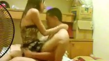 Indo horny gf trying to wake up her bf