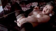 Scene girl uses dildo and vibrator