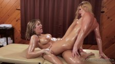Lesbian Abby and Blair have sex
