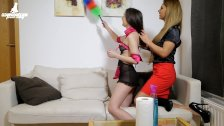 Hot lesbian babes have hard sex