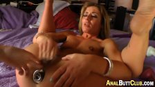 Anal plugged ho fingered