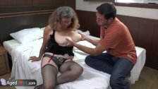 AgedLove chubby mature is fucking on bed