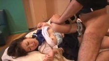 Asian schoolgirl getting fucked in a bdsm ses