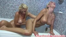 Euro Babe Puma Swede in Wet Shower with Bobbi