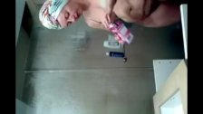 my 50 years old mother on shower spy camera