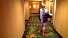 bbw sexy legs good walk in high heels from