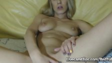 Beautiful Blonde College Girl On Cam