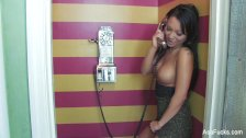 Asa Akira's super sexy phone sex masturbation