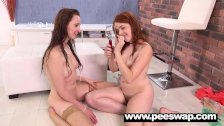 Chelsy Sun drinking the piss from her hot GF