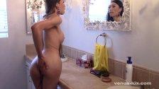 Spy On Venus Lux Jerking Off In Bathroom