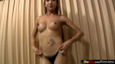 Ladyboy sucks cock until it squirts cum