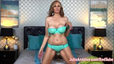 Julia Ann Fingers her Pussy in Bed!