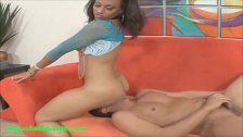bubble butt big ass light skin black girl gets fucked and cum on asshole