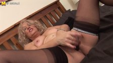 Blonde mature slut getting wet  onmilfcom