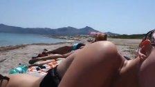My Sister Sucking Off her Boyfriend on the Beach