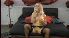 busty blonde plays with herself- naughtyroomies . com