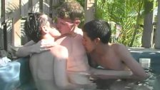 Hung Cock Sucking Twink Trio Blow Their Loads