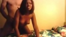 Teen Ebony GF Drilled by White BF!