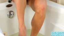 Denise Masino - Dripping Wet Nylons - Female Bodybuilder