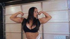 Denise Masino - My Sweaty Workout Video - Female bodybuilder