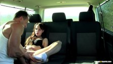 FuckedInTraffic - Czech bitch Chelsy Sun giving blowjob in a car wash