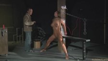 Bondage Painful chain reaction for slave big tits