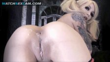Harley Quinn Huge Boobs Blonde Cosplay Teen Camgirl Bitch Masturbation 720p