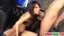 Rukia Mochizuki enjoys toys deep in her furry