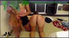 2 Rusian teen lesbians play slave game