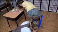 lesbian teacher worships teen feet from