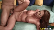 Brunette cutie Mia Lelani loves choking on members