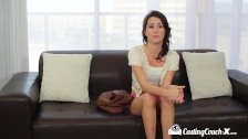 CastingCouch-X - Brunette Renne Roulette fucked on the casting couch