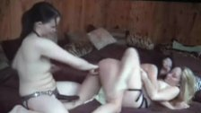 asian cutie is a toy of two white lesbian hard fuckers