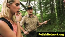 TeensInTheWoods Sally Squirtz cabin bdsm
