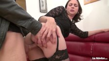 LaNovice - French newbie delights in hardcore pussy and ass bang