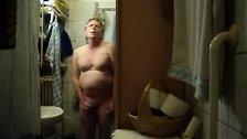 Fat piggy in bathroom