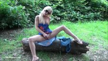 Sexy blonde Debbies public flashing and outdoor babes masturbation in parks