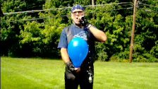 Labor Day blue balloon