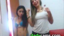 Four Hot Teens webcam Stripping