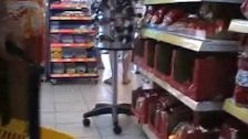 Upskirt in Supermarket No panties Milf