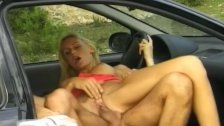 busty babe fucked on german street